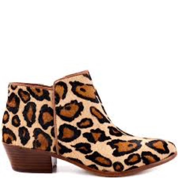 949604086779 Petty Leopard Calf Hair Low Heel Ankle Boot. Sam Edelman Petty Low Tapestry Ankle  Bootie Neiman Marcus